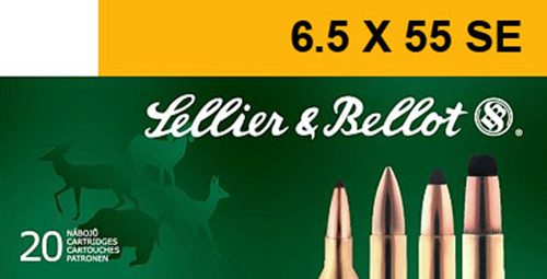 Sellier & Bellot SB6555B Rifle 6.5X55mm Swedish 140 GR Soft Point 20 Bx/ 20 Cs
