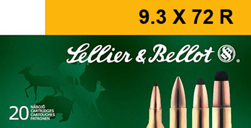 Sellier & Bellot SB9372RA Rifle 9.3mmX72R 193 GR Soft Point 20 Bx/ 20 Cs
