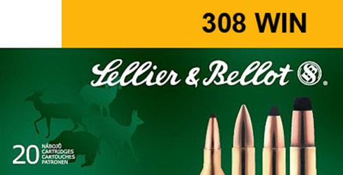 Sellier & Bellot SB308E Rifle Match 308 Win/7.62 NATO 168 GR BTHP 20 Bx/ 25 Cs