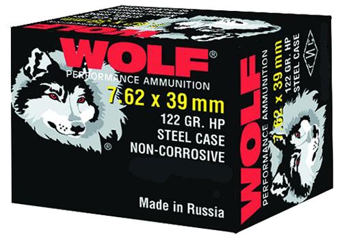 Wolf 762BHP PolyFormance Rifle 7.62X39mm 123 GR Hollow Point 20 Bx/ 50 Cs 1000 Total (Case)