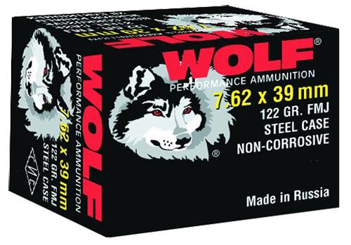 Wolf 762BFMJ PolyFormance Rifle 7.62X39mm 123 GR Full Metal Jacket 20 Bx/ 50 Cs 1000 Total (Case)