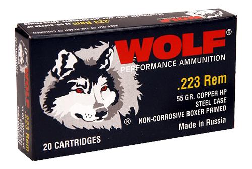 Wolf 22355HP PolyFormance Rifle 223 Remington/5.56 NATO 55 GR Hollow Point 20 Bx/ 25 Cs 500 Total (Case)