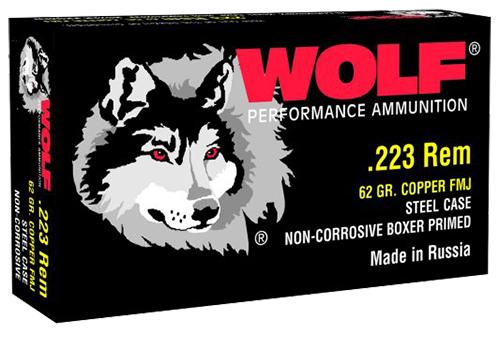 Wolf 22362 PolyFormance Rifle 223 Remington/5.56 NATO 62 GR Full Metal Jacket 20 Bx/ 25 Cs 500 Total (Case)