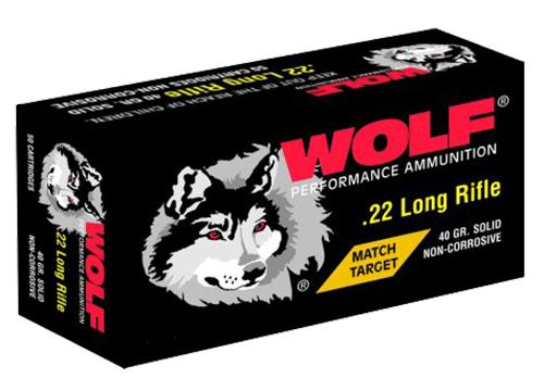 Wolf 22MTB Match 22LR Round Nose 40 GR Bulk 5000 Rds