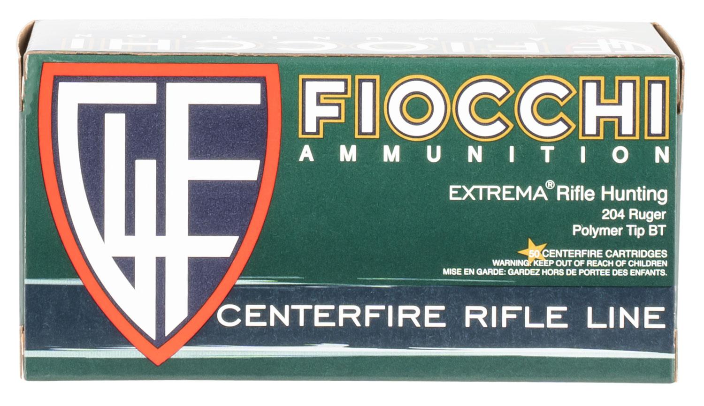 Fiocchi 204HVB Extrema 204 Ruger 40 GR V-Max Polymer Tip 50 Bx/ 20 Cs