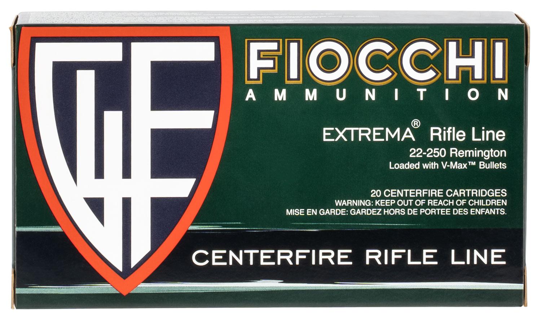 Fiocchi 22250HVD Extrema 22-250 Remington 55 GR V-Max 20 Bx/ 10 Cs