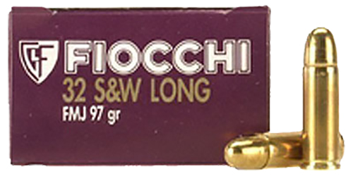 Fiocchi 32SWLA Shooting Dynamics 32 S&W Long 97 GR FMJ 50 Bx/ 20 Cs
