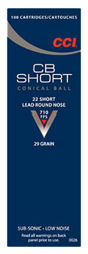 CCI 0026 Specialty CB  22 Short 29 GR Lead Round Nose 100 Bx/ 50 Cs