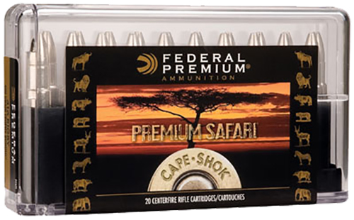 Federal P500NSA Premium Safari Cape-Shok  500 Nitro Express 570 GR Swift A-Frame 20 Bx/ 10 Cs