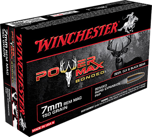 Winchester Ammo X7MMR1BP Super-X 7mm Remington Magnum 150 GR Power Max Bonded 20 Bx/ 10 Cs