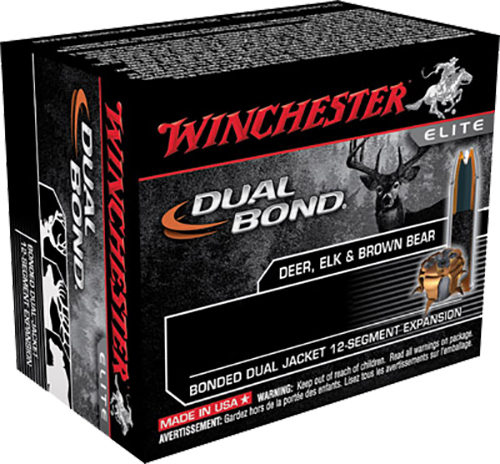 Winchester Ammo S44RMDB Elite 44 Remington Magnum 240 GR Dual Jacket Hollow Point 20 Bx/ 10 Cs
