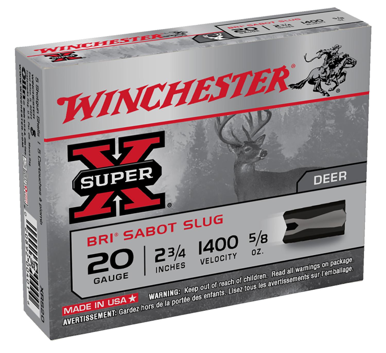 Winchester Ammo XRS20 Super-X Slugs  20 Gauge 2.75