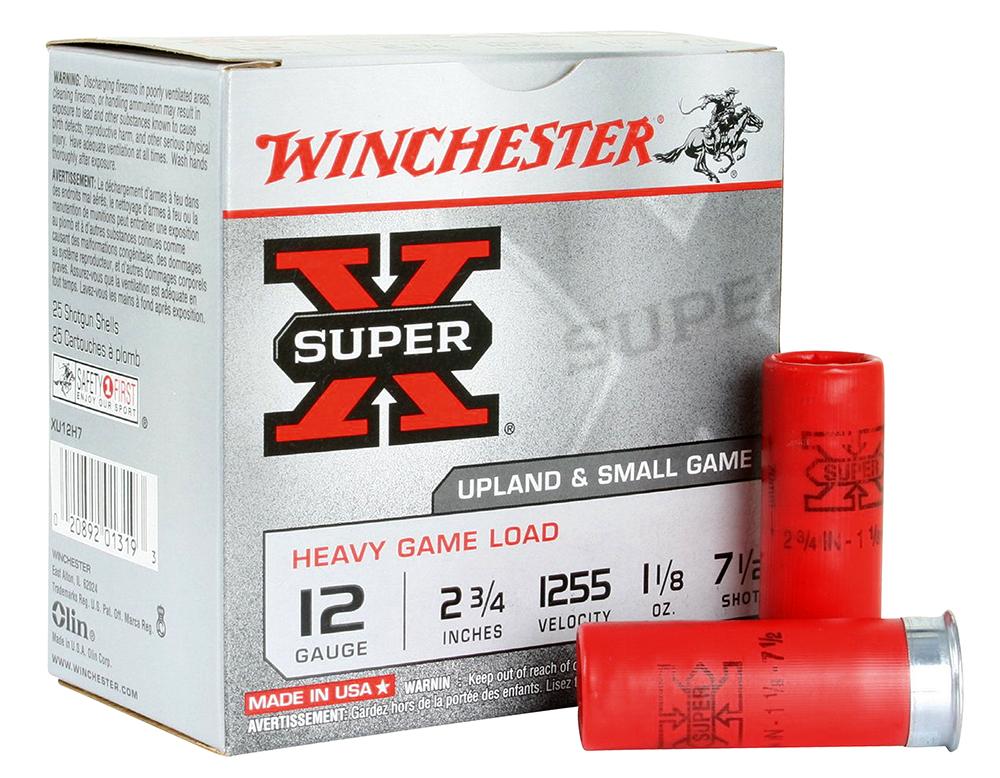 Winchester Ammo XU12H7 Super-X Game & Field 12 Gauge 2.75