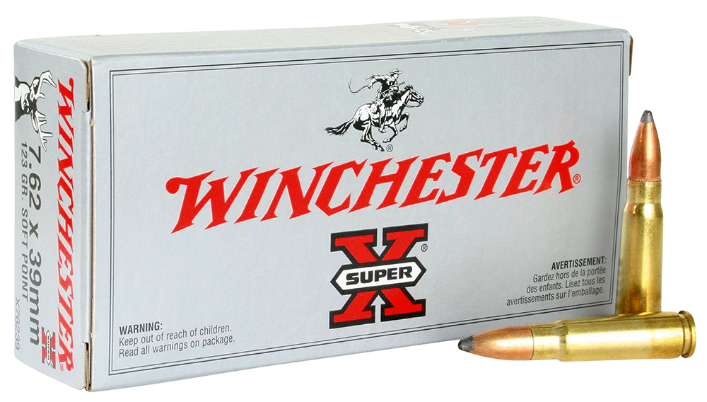 Winchester Ammo X76239 Super-X 7.62X39mm 123 GR Pointed Soft Point 20 Bx/ 10 Cs