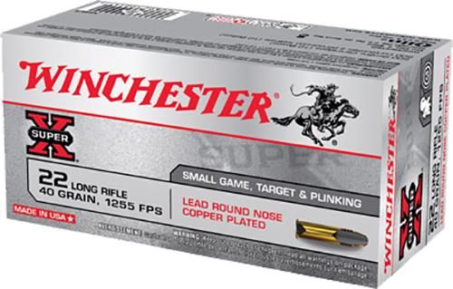 Winchester Ammo X22LR Super-X 22 Long Rifle (LR) 40 GR Lead Round Nose 50 Bx/ 100 Cs