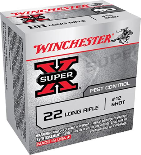 Winchester Ammo X22LRS Super-X 22 Long Rifle 40 GR #12 Shot 50 Bx/ 100 Cs