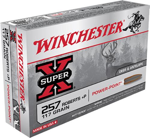Winchester Ammo X257P3 Super-X 257 Roberts 117 GR Power-Point 20 Bx/ 10 Cs