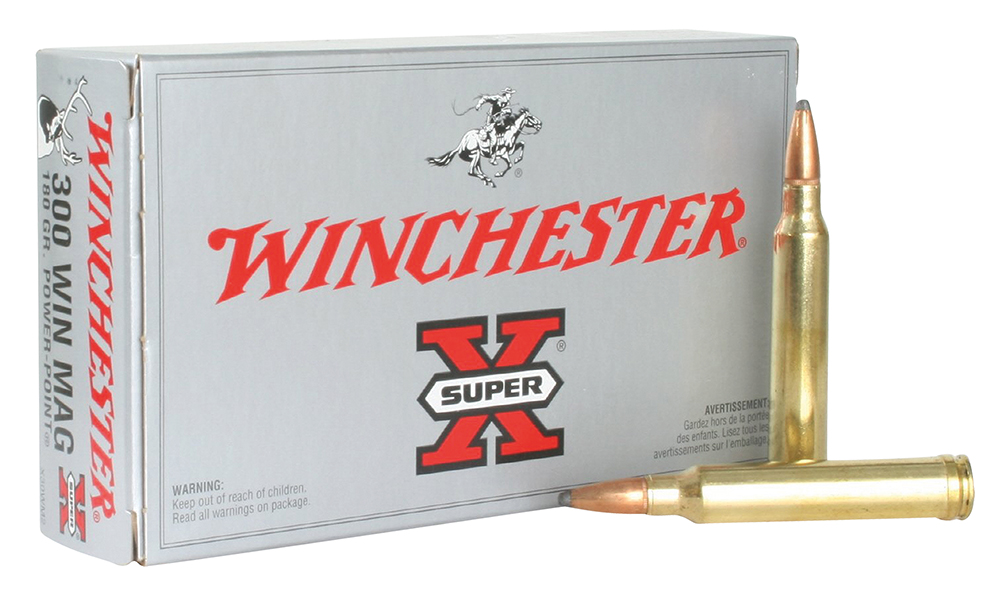 Winchester Ammo X30WM2 Super-X 300 Winchester Magnum 180 GR Power-Point 20 Bx/ 10 Cs