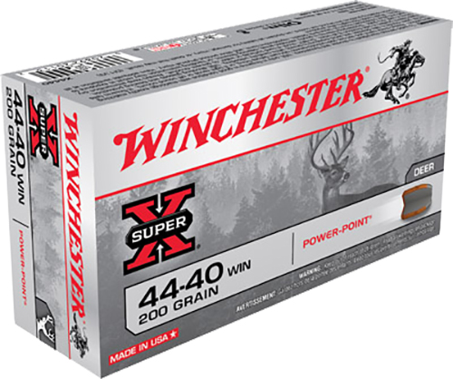 Winchester Ammo X4440 Super-X 44-40 Winchester 200 GR Soft Point 50 Bx/ 10 Cs