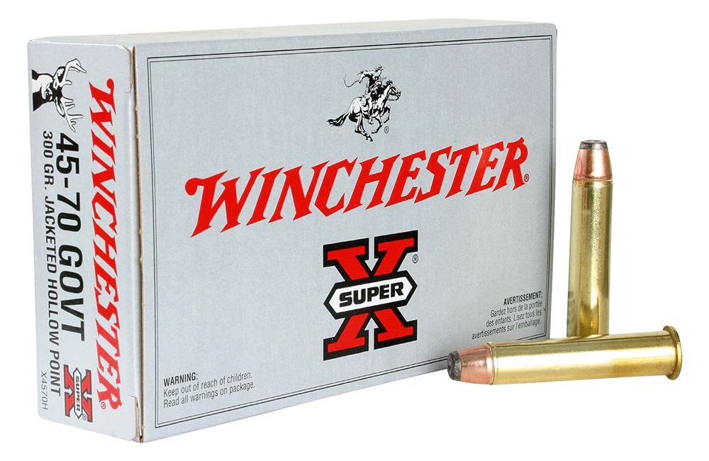 Winchester Ammo X4570H Super-X 45-70 Government 300 GR Jacketed Hollow Point 20 Bx/ 10 Cs