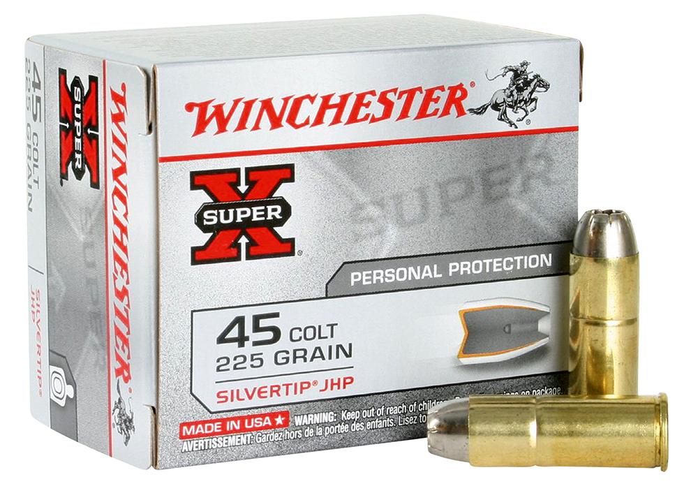 Winchester Ammo X45CSHP2 Super-X 45 Colt (LC) 225 GR Silvertip HP 20 Bx/ 10 Cs