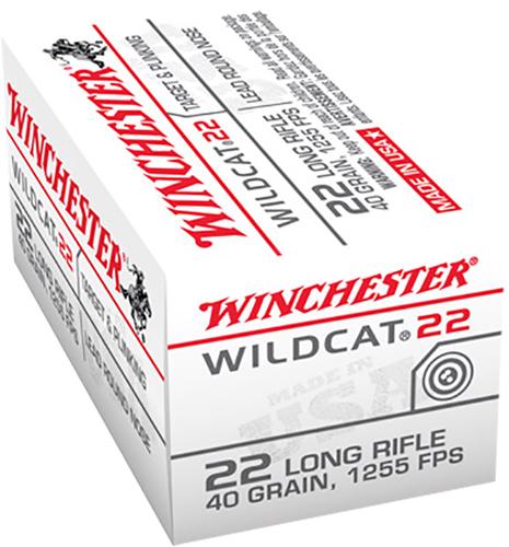 Winchester Ammo WW22LR USA Wildcat 22 22 LR 40 gr Lead Round Nose (LRN) 50 Bx/ 100 Cs