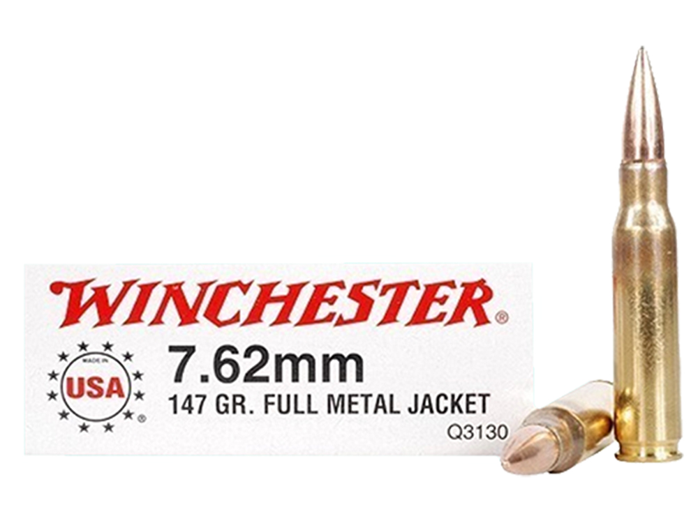 Winchester Ammo Q3130 Winchester Rifle 308 Winchester/7.62 NATO 147 GR Full Metal Jacket 20 Bx/ 10 Cs