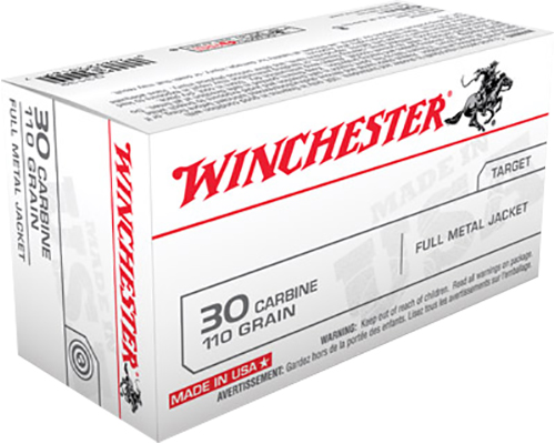 Winchester Ammo Q3132 Winchester Rifle 30 Carbine 110 GR Full Metal Jacket 50 Bx/10 Cs