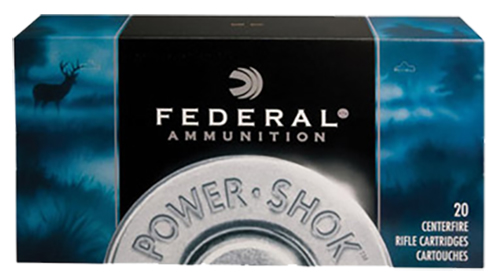 Federal 222A Power-Shok Rifle  222 Remington 50 GR Jacketed Soft Point 20 Bx/ 10 Cs