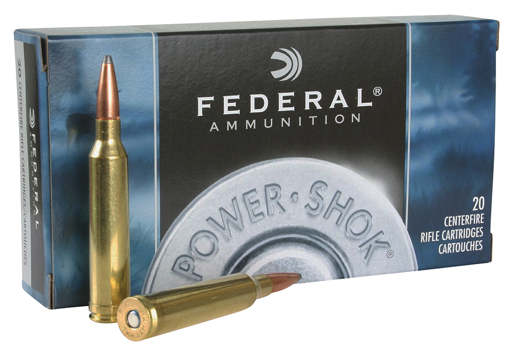 Federal 7RB Power-Shok Rifle  7mm Remington Magnum 175 GR Jacketed Soft Point 20 Bx/ 10 Cs