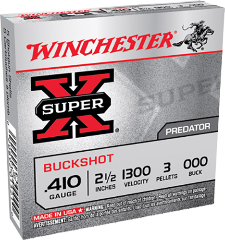 Winchester Ammo XB41000 Super-X Buckshot 410 Gauge 2.5