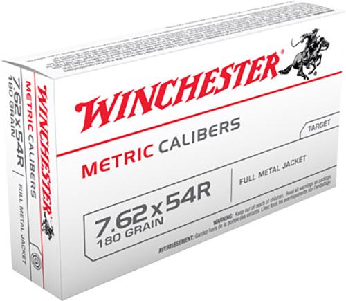 Winchester Ammo MC76254R Metric 7.62X54mm Russian 180 GR Full Metal Jacket 20 Bx/20 Cs