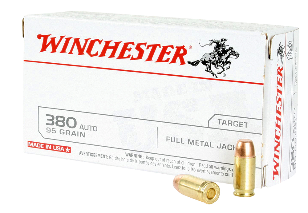 Winchester Ammo Q4206 Best Value 380 Automatic Colt Pistol (ACP) 95 GR Full Metal Jacket 50 Bx/ 10 Cs
