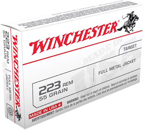 Winchester Ammo USA223R1L USA   223 Remington 55 GR Full Metal Jacket (FMJ) 20 Bx/ 25 Cs