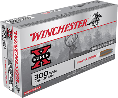 Winchester Ammo X300WSM Super-X 300 Winchester Short Magnum 180 GR Power-Point 20 Bx/ 10 Cs