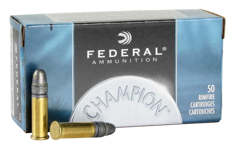 Federal 510 Champion 22 Long Rifle Solid 40 GR 50Box/100Case
