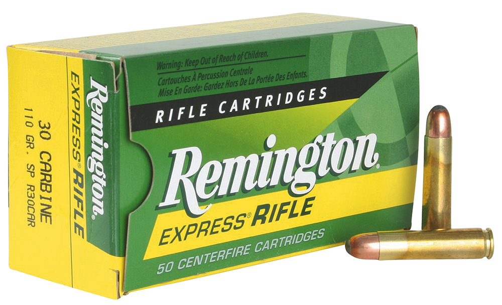 Rem Ammo R30CAR Standard 30 Carbine 110GR Core-Lokt Soft Point 50 Box/10 Case