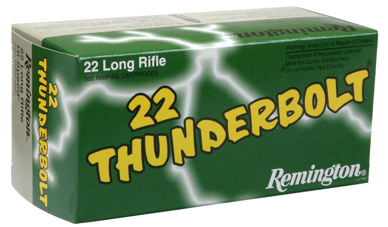 Remington Ammunition TB22A Thunderbolt 22 Long Rifle (LR) Round Nose 40 GR 50Box/100Case