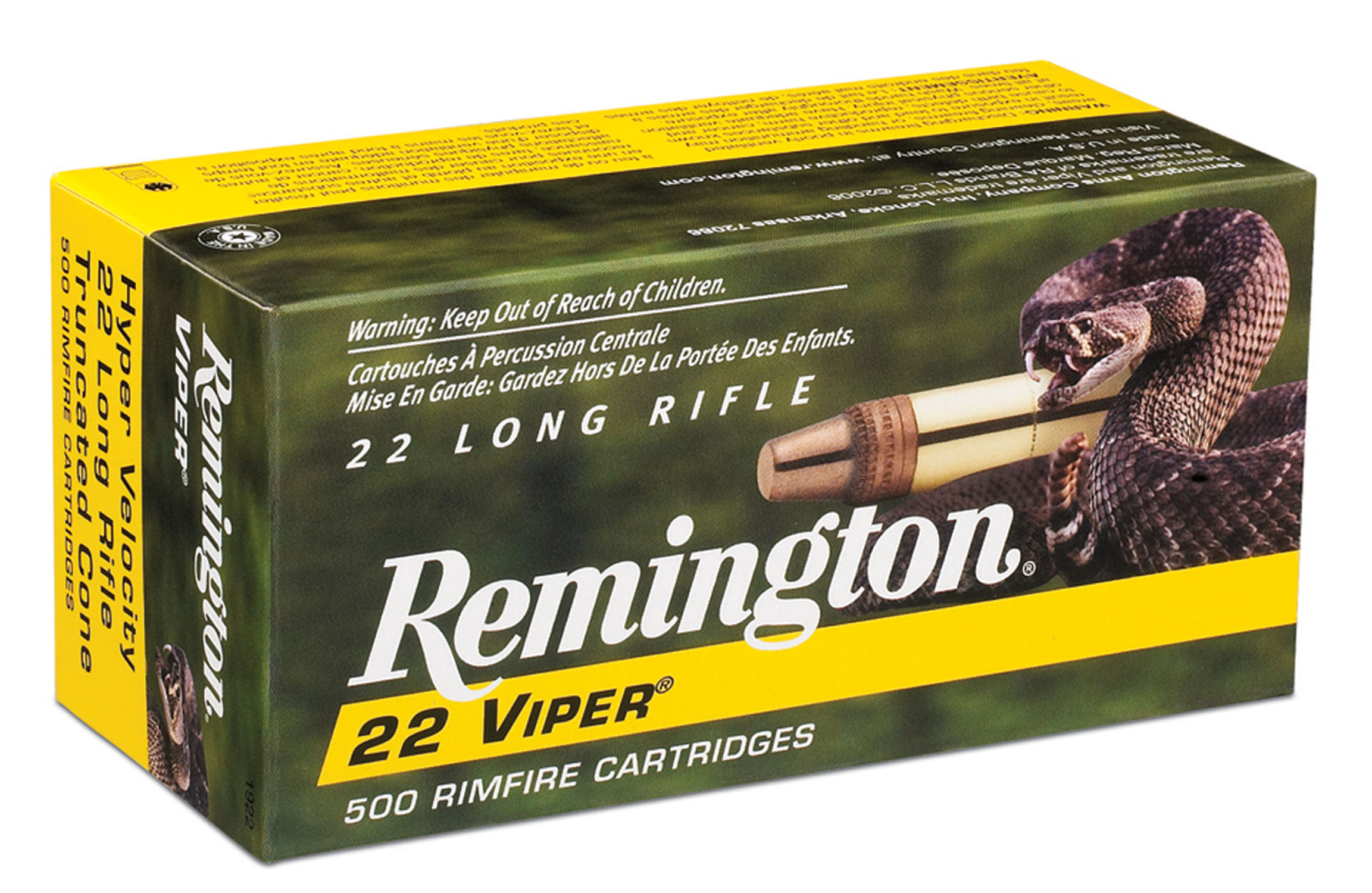 Remington Ammunition 1922 Viper 22LR Truncated Cone Solid 36GR 50 Box/100 Case