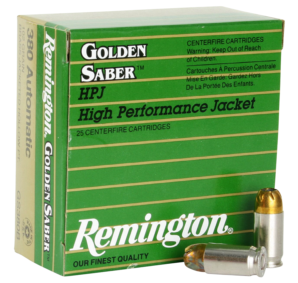 Remington Ammunition GS380B Premier 380 Automatic Colt Pistol (ACP) 102 GR High Performance Jacket 25 Bx/ 20 Cs