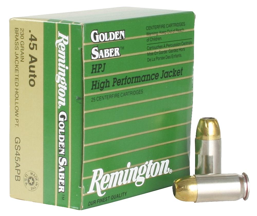 Remington Ammo GS45APB Premier 45 ACP Boat Tail Hollow Point 230 GR 25Box/20Case