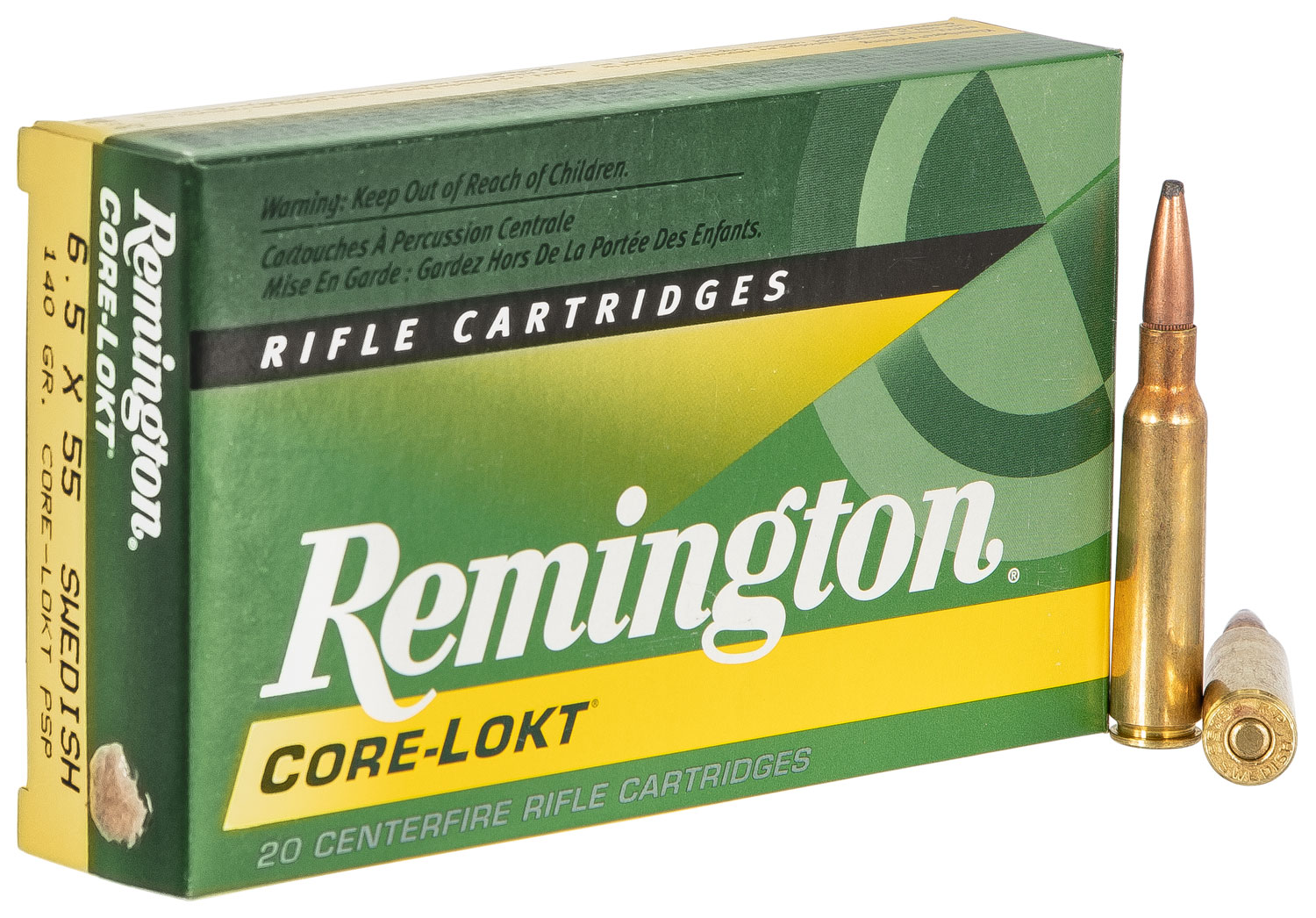 Rem Ammo R65SWE1 Core-Lokt 6.5mmX55mm Pointed Soft Point 140 GR 20Box/10Case