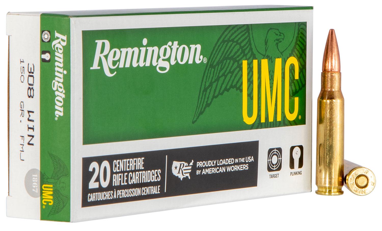 Remington L308W4 UMC 308Win/7.62NATO 150GR Metal Case (FMJ) 20Bx/10Cs