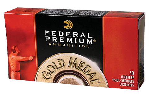 Federal GM45B Gold Medal Handgun  45 Automatic Colt Pistol (ACP) 185 GR Full Metal Jacket Semi-Wadcutter 50 Bx/ 20 Cs