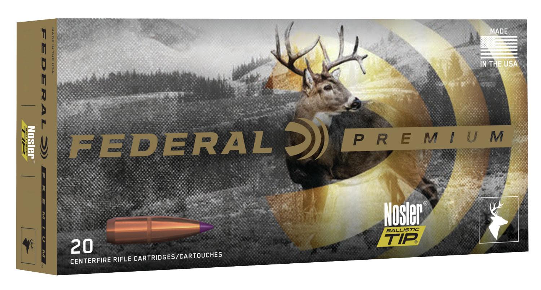 Federal P243F Premium Varmint & Predator  243 Winchester 70 GR Nosler Ballistic Tip 20 Bx/ 10 Cs