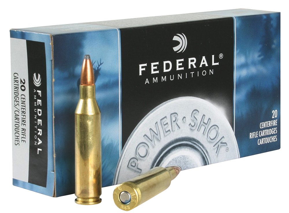 Federal 243AS Power-Shok Rifle  243 Winchester 80 GR Jacketed Soft Point 20 Bx/ 10 Cs
