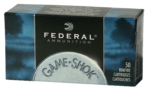 Federal 724 Game-Shok 22 Long Rifle 31 GR Copper-Plated Hollow Point 50 Bx/ 100 Cs