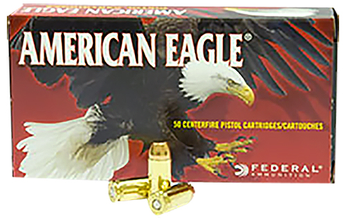 Federal AE40R1 American Eagle Handgun  40 Smith & Wesson (S&W) 180 GR Full Metal Jacket 50 Bx/ 20 Cs
