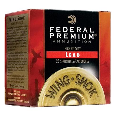 Federal P1286 Premium Upland Wing-Shok  High Velocity 12 Gauge 2.75