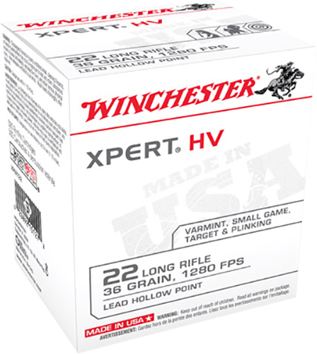 Winchester Ammo XPERT22 XPert 22 Long Rifle (LR) 36 GR Lead Hollow Point 500 Bx/ 10 Cs